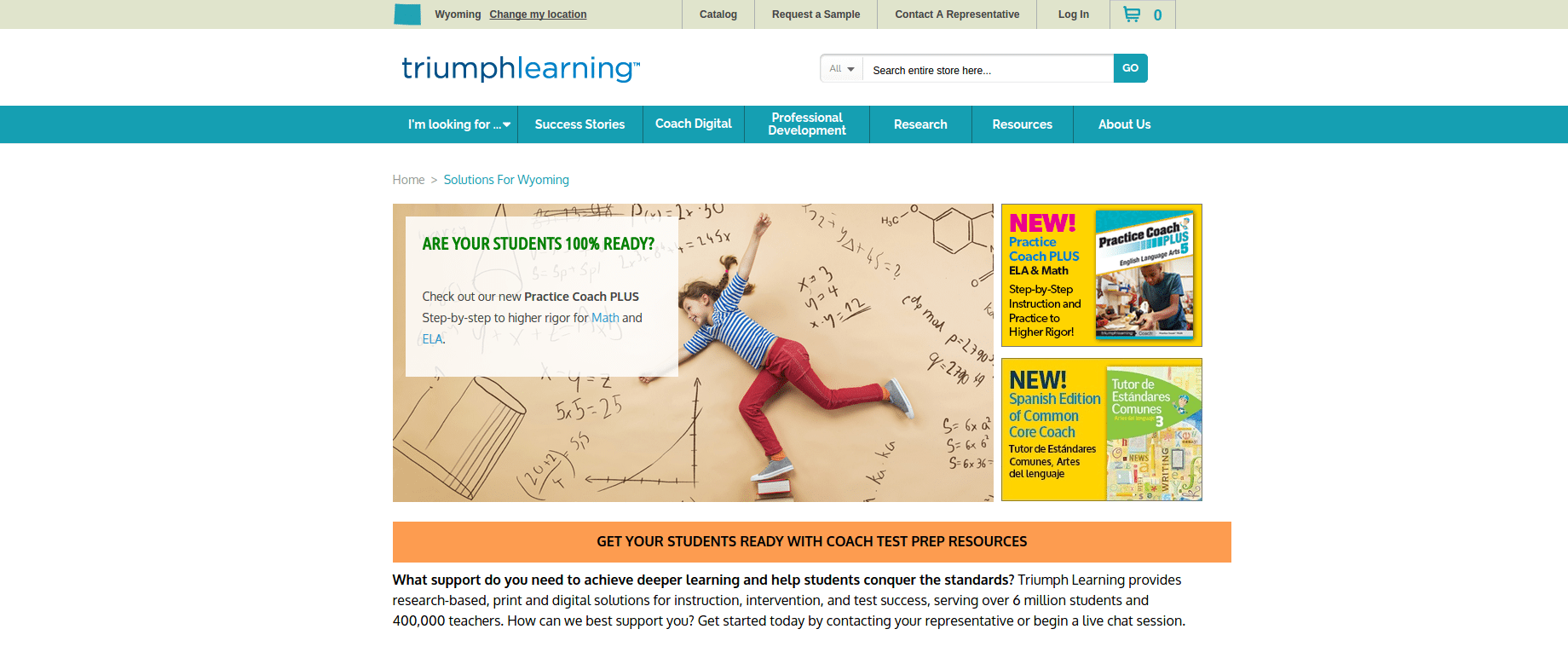 TriumphLearning-Homepage